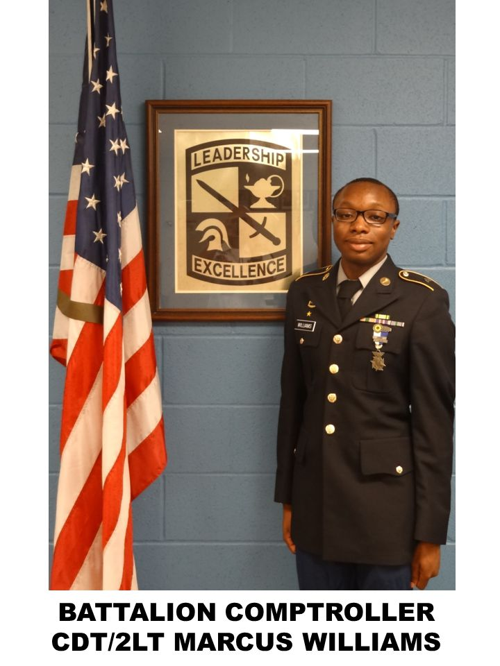 BATTALION COMPTROLLER CDT/2LT MARCUS WILLIAMS