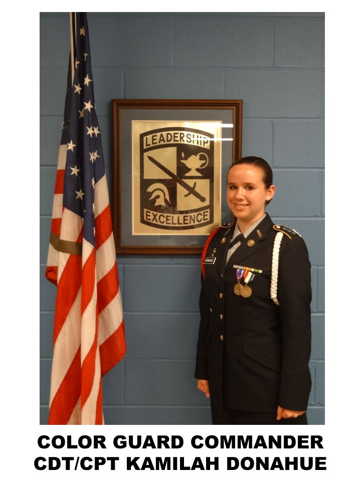 COLOR GUARD COMMANDER CDT/CPT KAMILAH DONAHUE