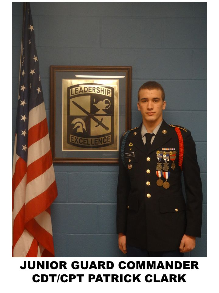 JUNIOR GUARD COMMANDER CDT/CPT PATRICK CLARK
