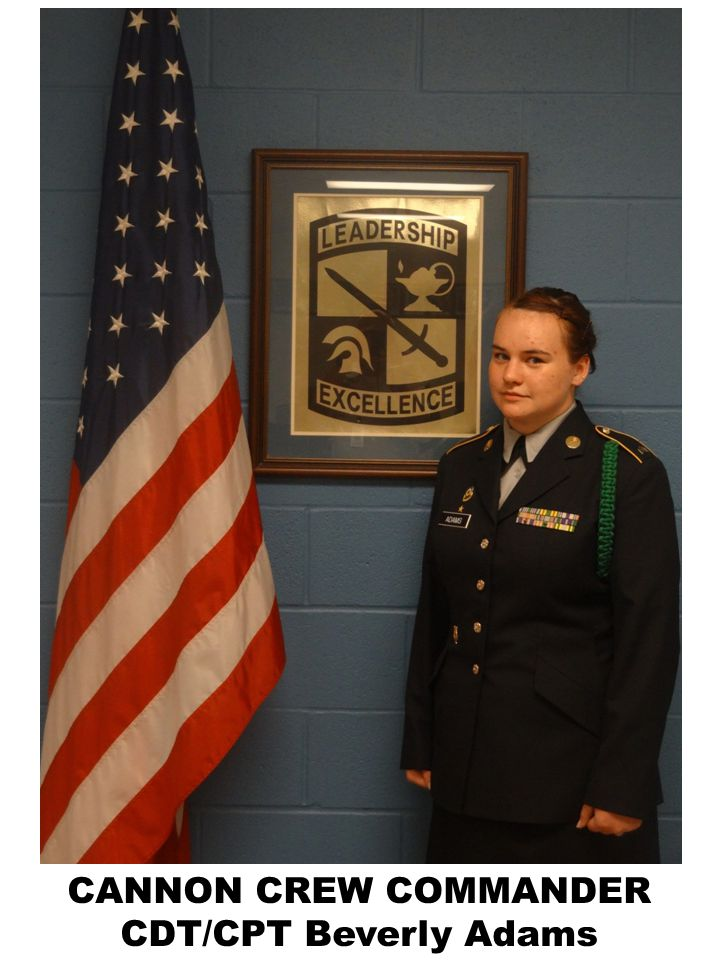 CANNON CREW COMMANDER CDT/CPT Beverly Adams