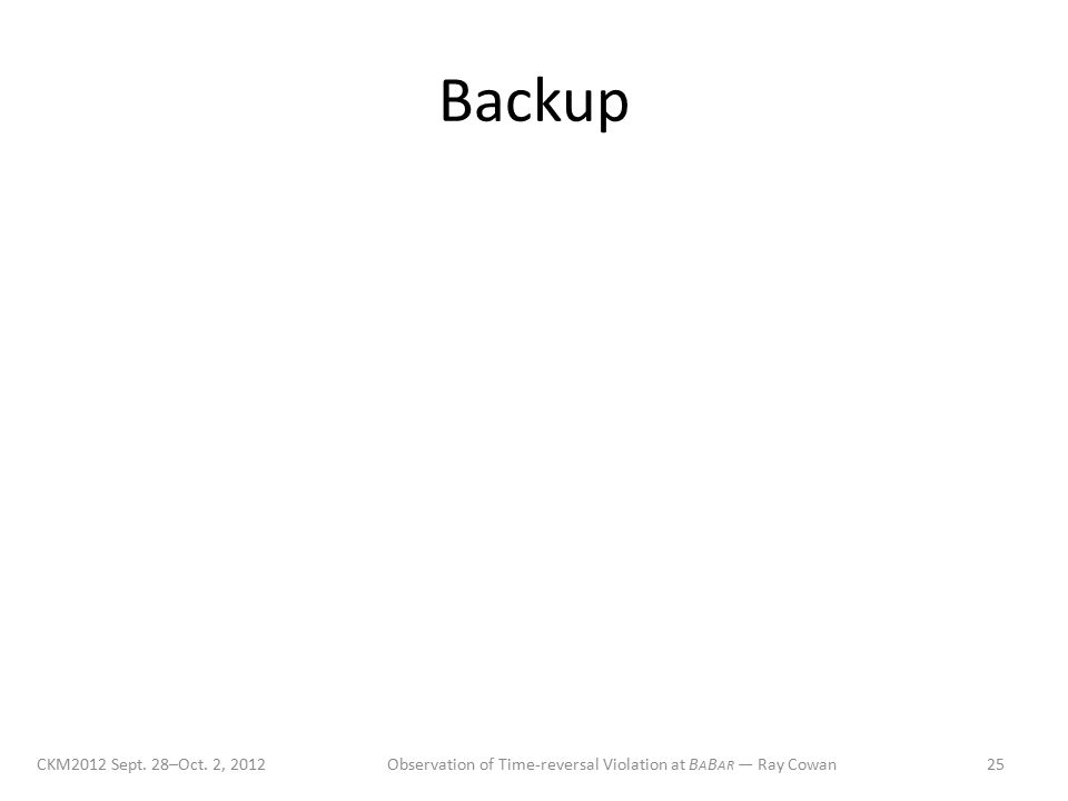 Backup CKM2012 Sept. 28–Oct.