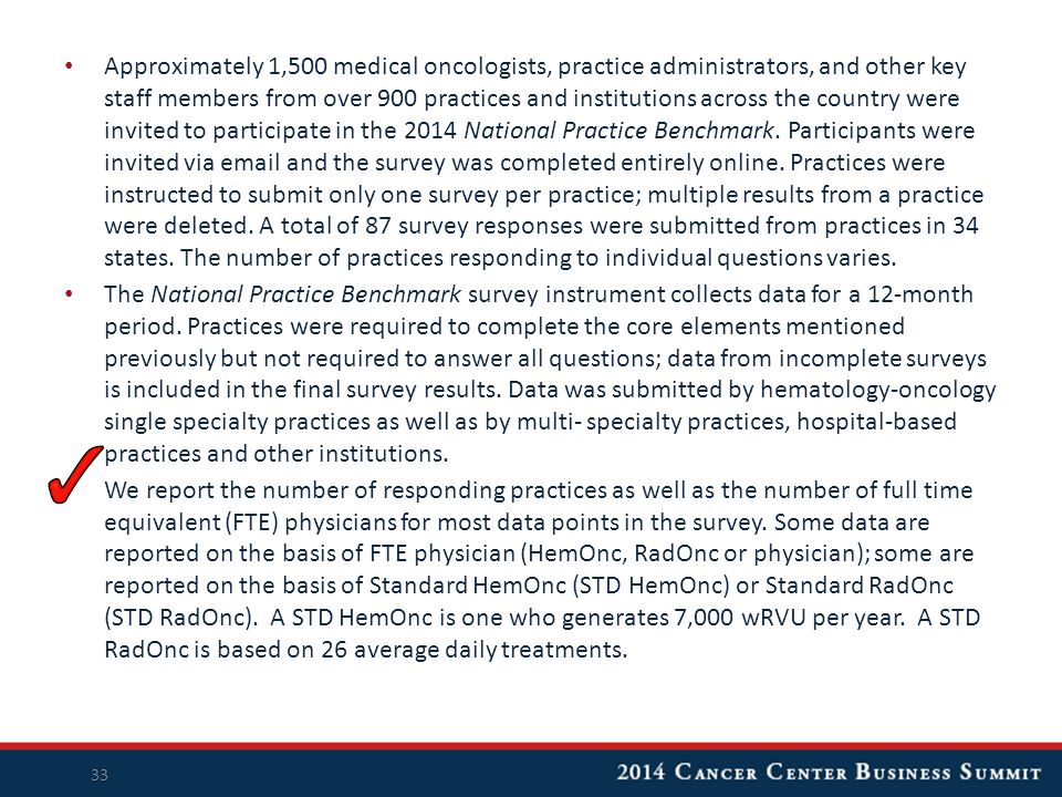 Approximately 1,500 medical oncologists, practice administrators, and other key staff members from over 900 practices and institutions across the coun
