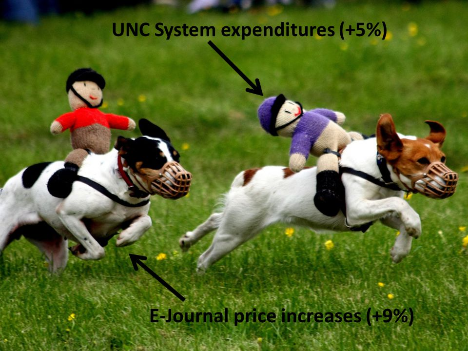 UNC System expenditures (+5%) E-Journal price increases (+9%)