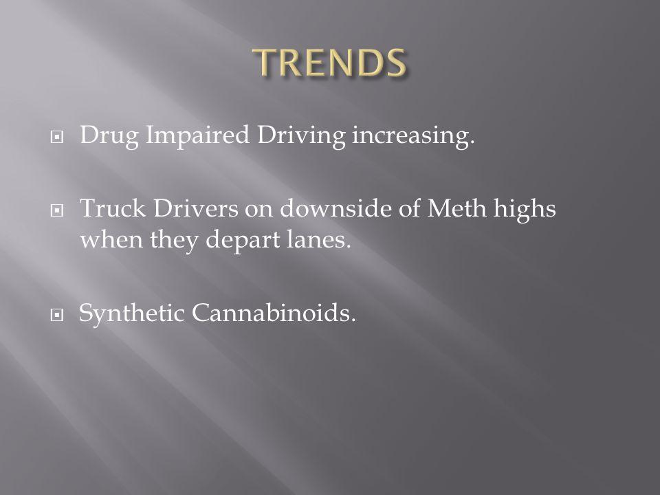  Drug Impaired Driving increasing.
