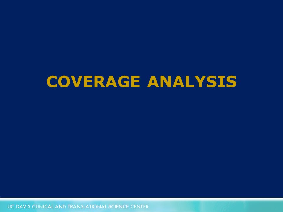 COVERAGE ANALYSIS