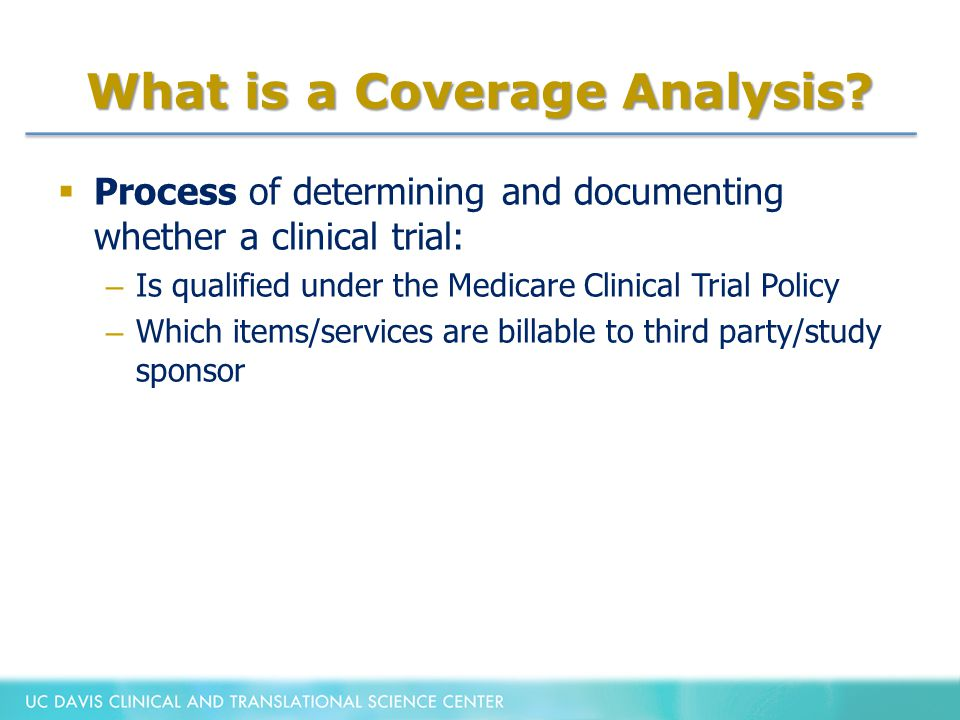 What is a Coverage Analysis.