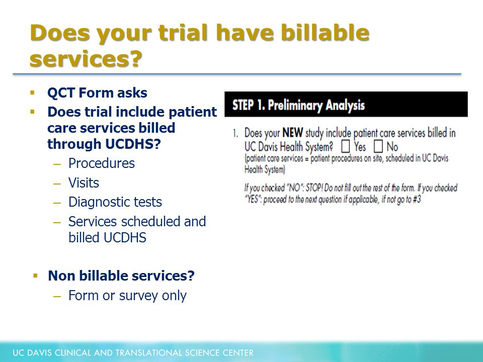 Does your trial have billable services.