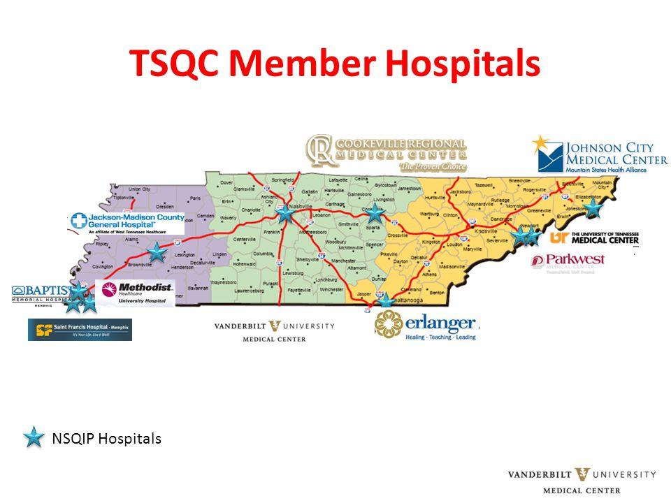 TSQC Member Hospitals NSQIP Hospitals