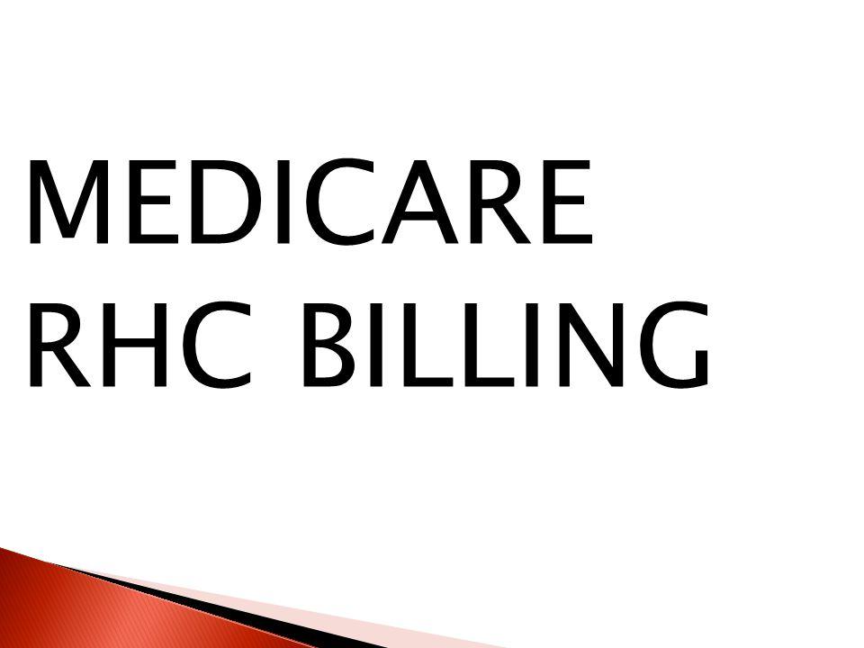 MEDICARE RHC BILLING