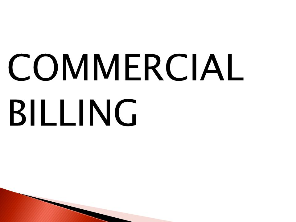 COMMERCIAL BILLING
