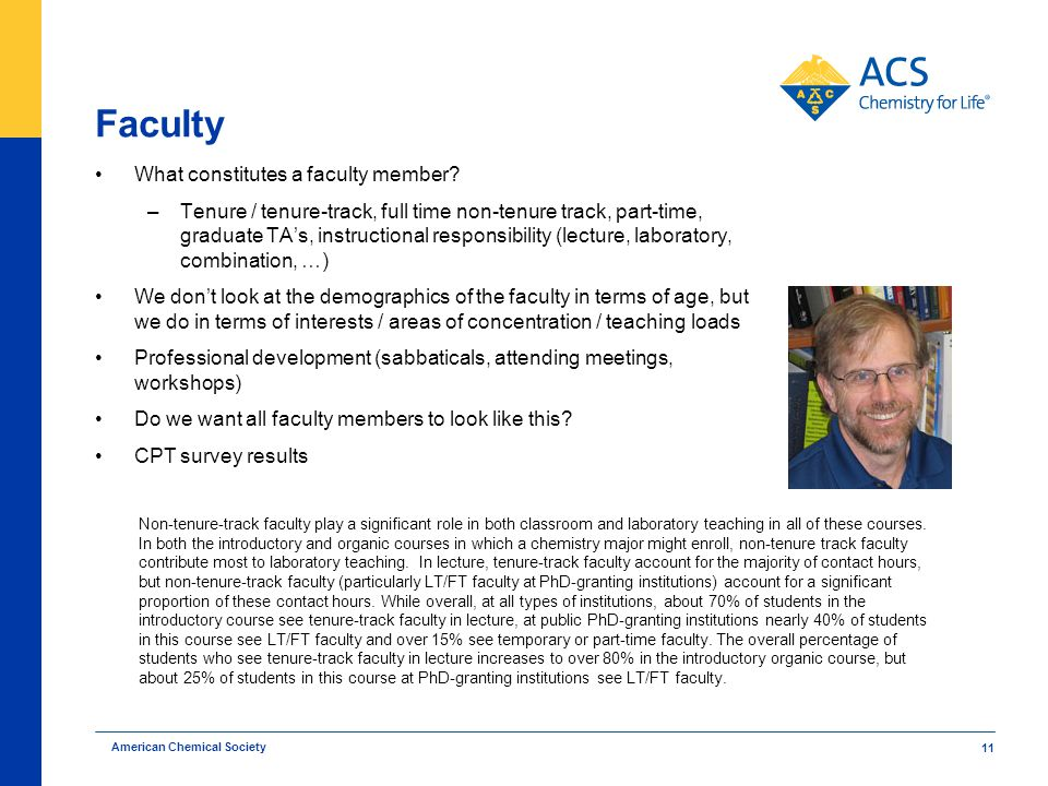 Faculty What constitutes a faculty member.