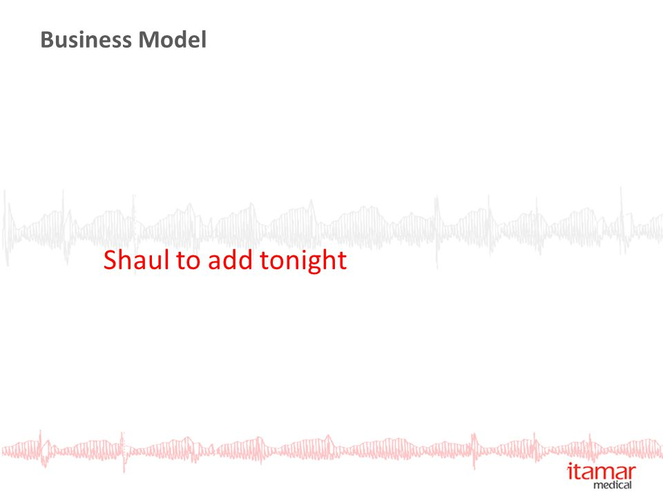Business Model Shaul to add tonight