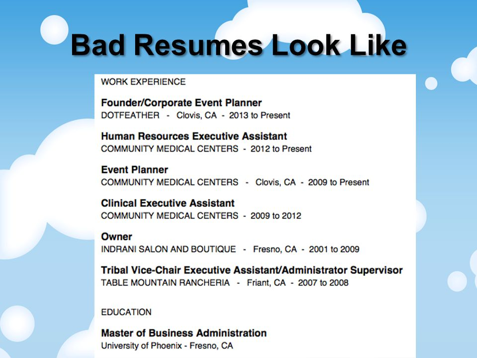 Bad Resumes Look Like