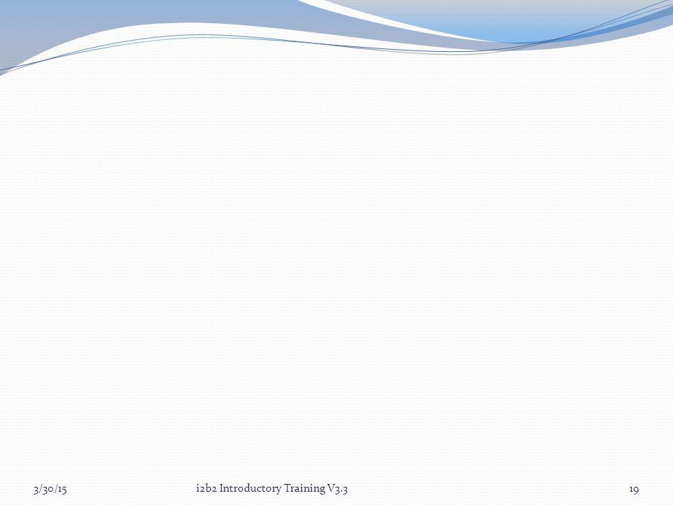 3/30/15i2b2 Introductory Training V3.319