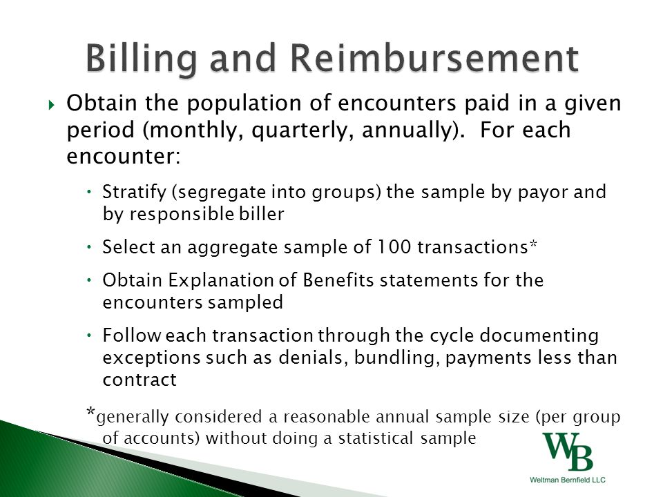 Obtain the population of encounters paid in a given period (monthly, quarterly, annually).