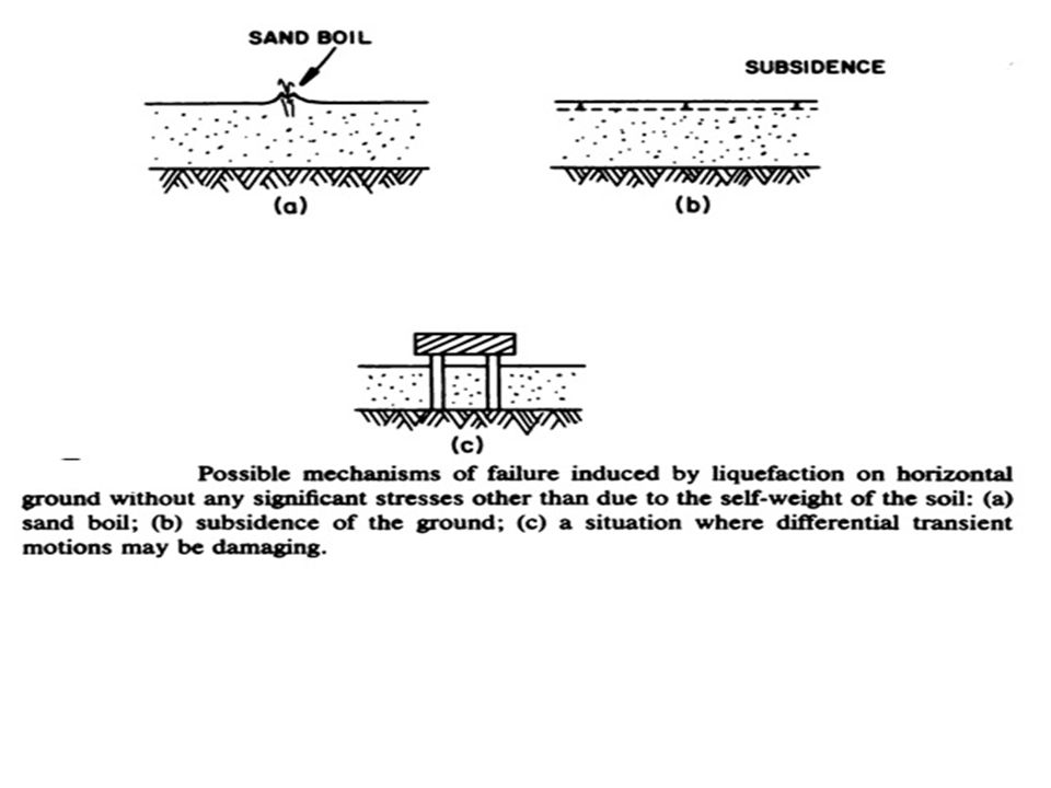 Types of Failure Cyclic Mobility Overturning Sand Boiling Subsidence and Settlement Deferential Transient Motion