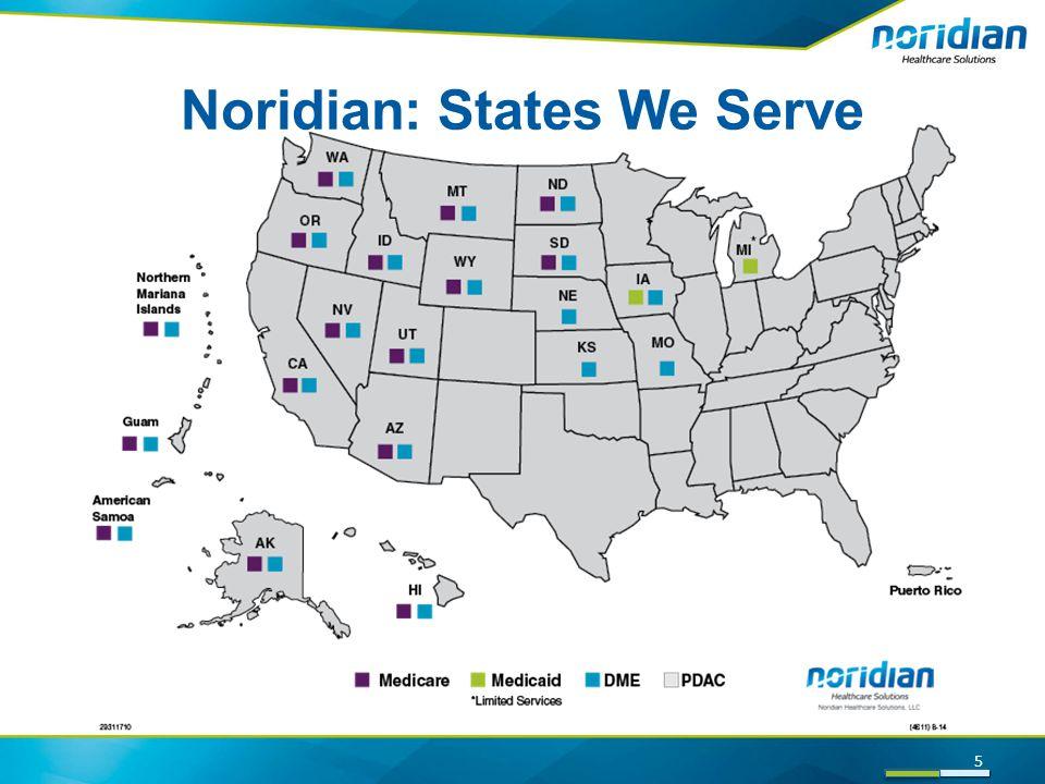Noridian: States We Serve 5