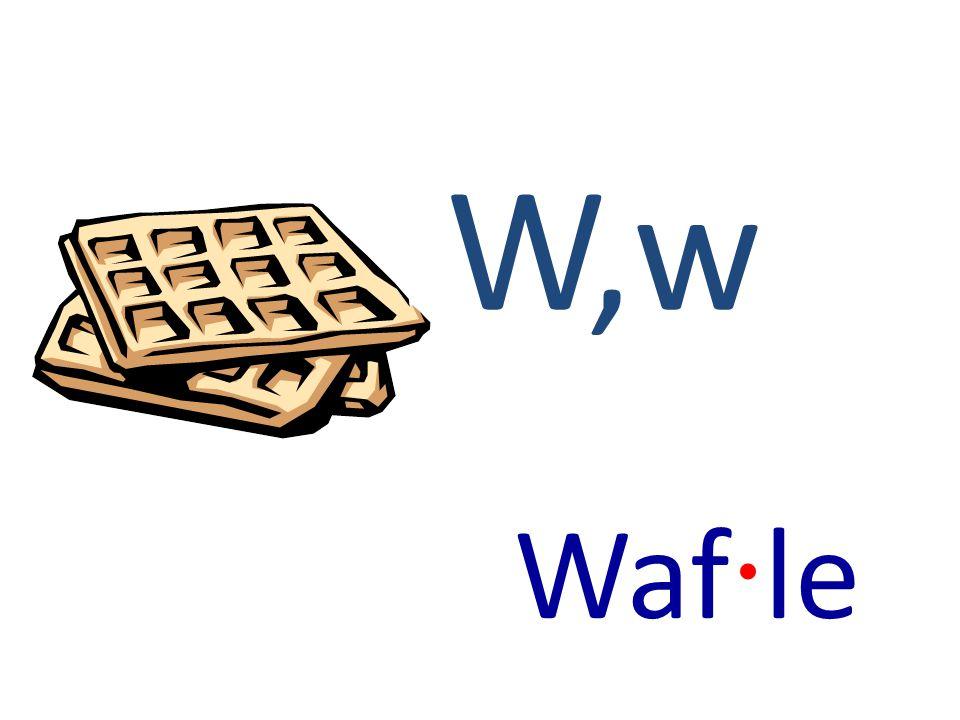W,w Waf · le