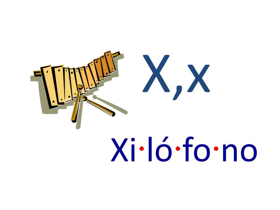 X,x Xi · ló · fo · no