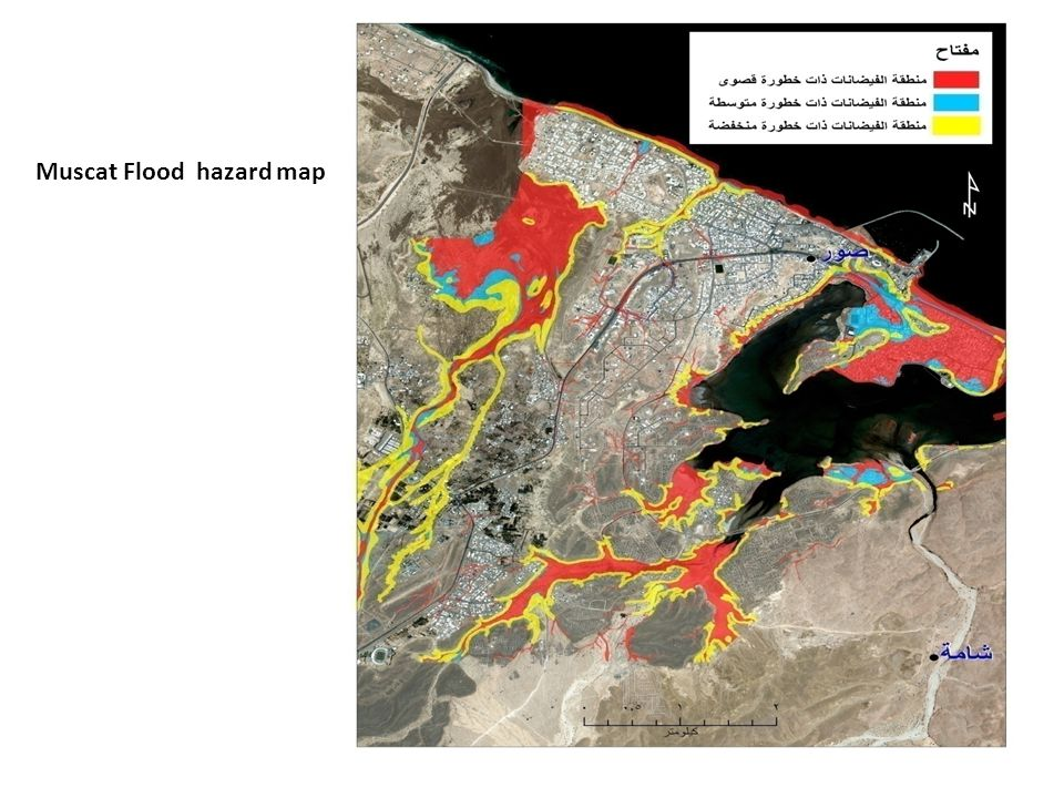 Muscat Flood hazard map