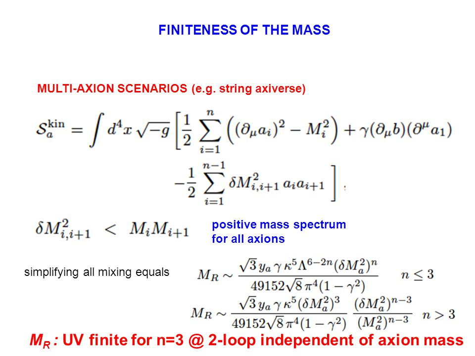 MULTI-AXION SCENARIOS (e.g.
