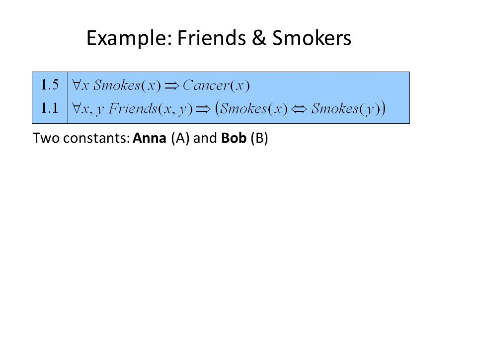 Two constants: Anna (A) and Bob (B)