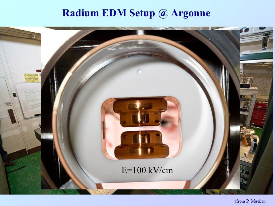 Radium EDM Setup @ Argonne 10W E=100 kV/cm (from P. Mueller)