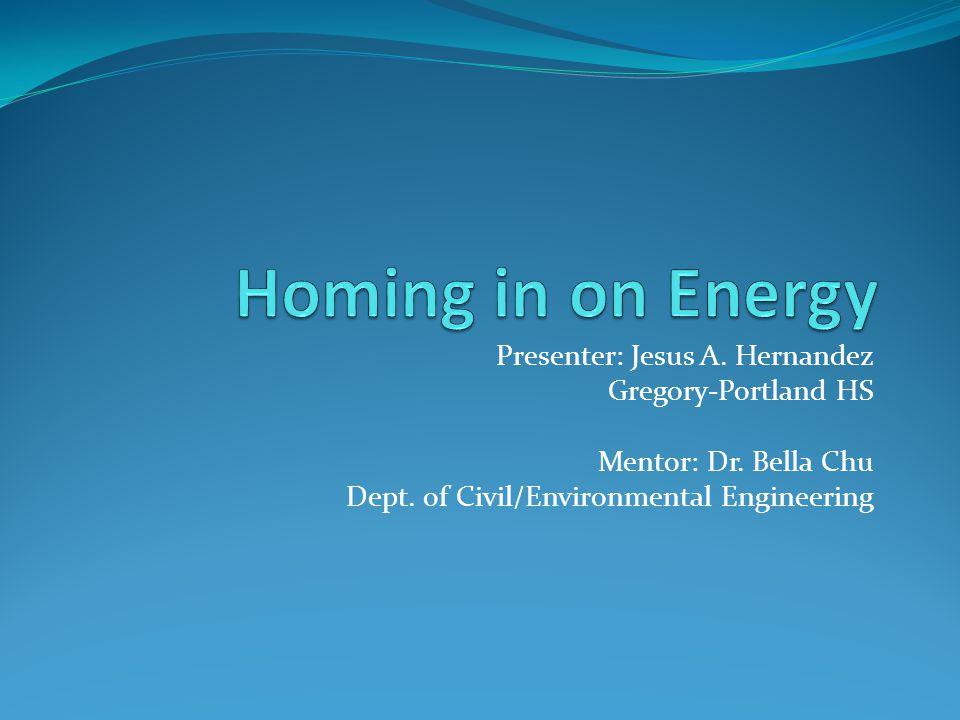 Presenter: Jesus A. Hernandez Gregory-Portland HS Mentor: Dr.