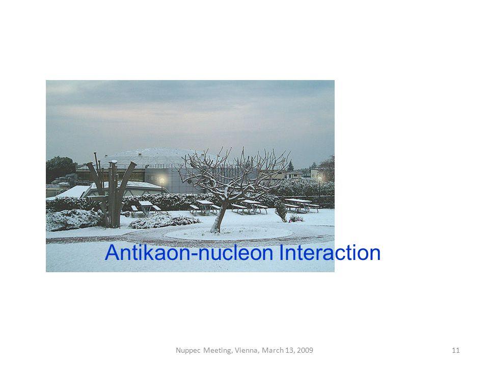 Antikaon-nucleon Interaction Nuppec Meeting, Vienna, March 13, 200911