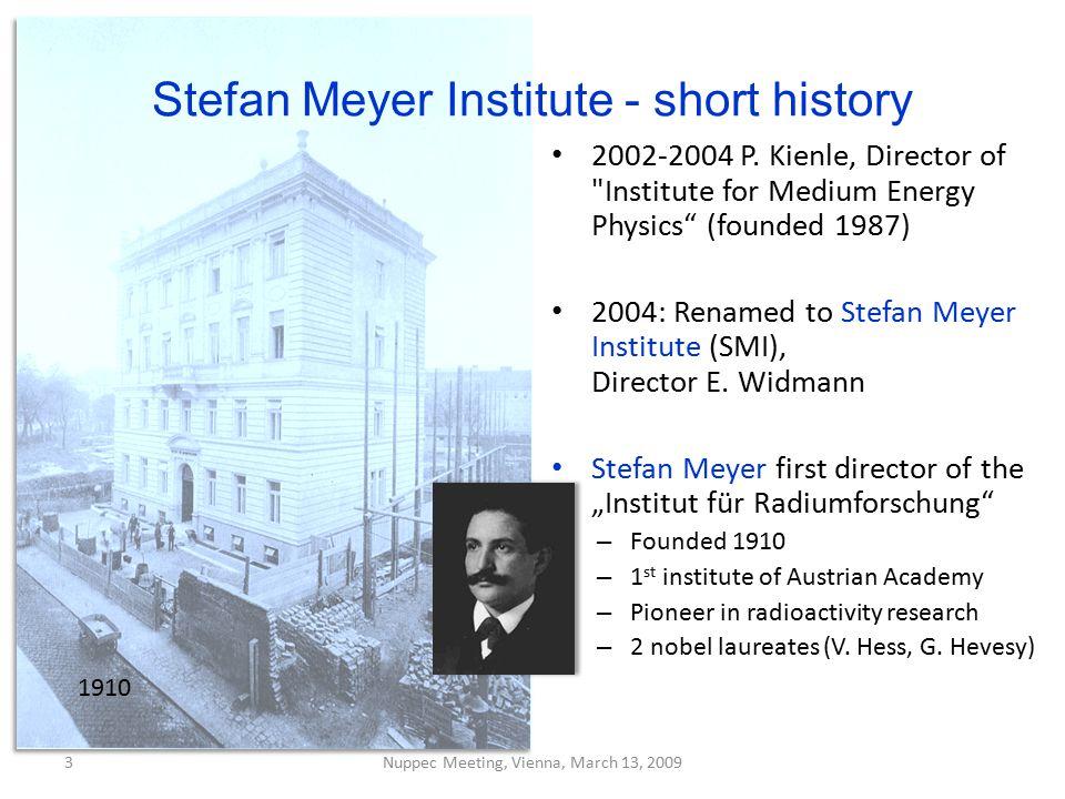 3 Stefan Meyer Institute - short history 2002-2004 P. Kienle, Director of