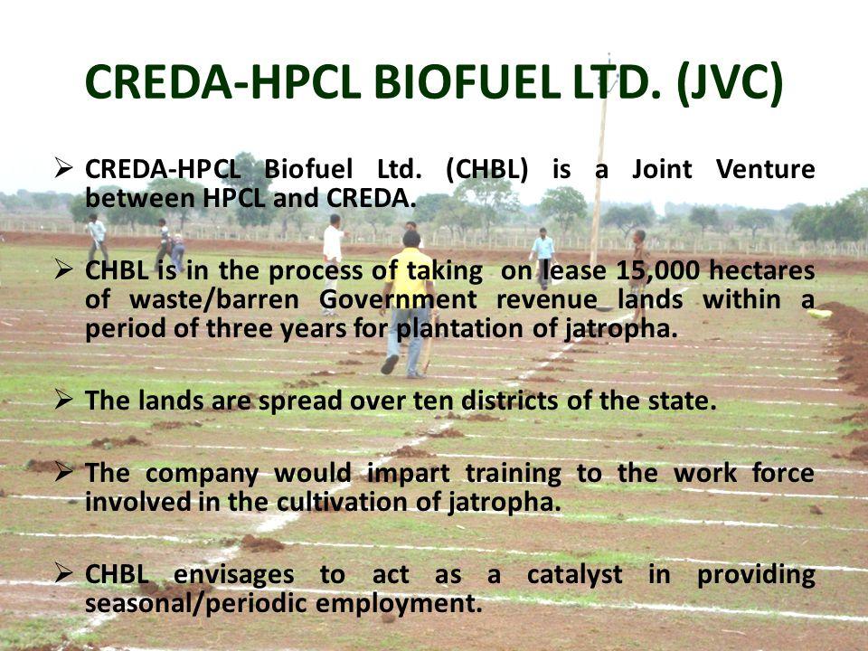 CREDA-HPCL BIOFUEL LTD. (JVC)  CREDA-HPCL Biofuel Ltd.