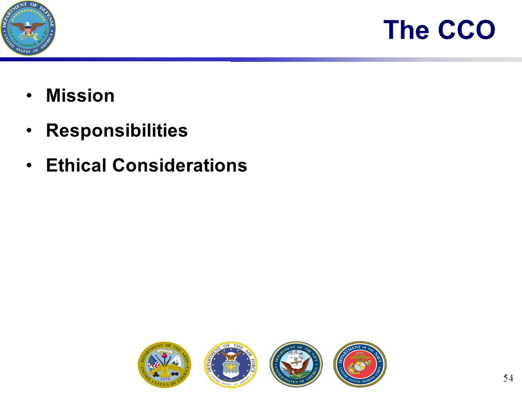 54 The CCO Mission Responsibilities Ethical Considerations