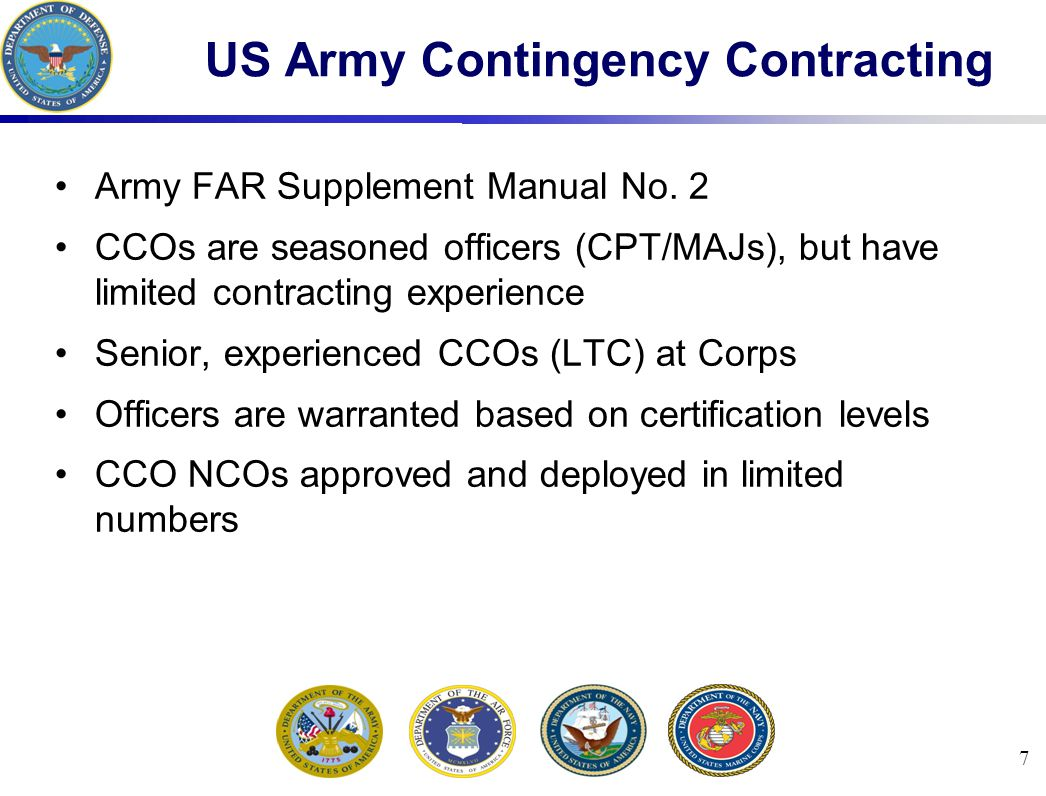 58 Responsibilities To The Supported Command Common Military Skills Anticipate Requirements Impact to Local Economy (may become the largest employer in area) Impacts on the JTF mission (economic, political and geopolitical)