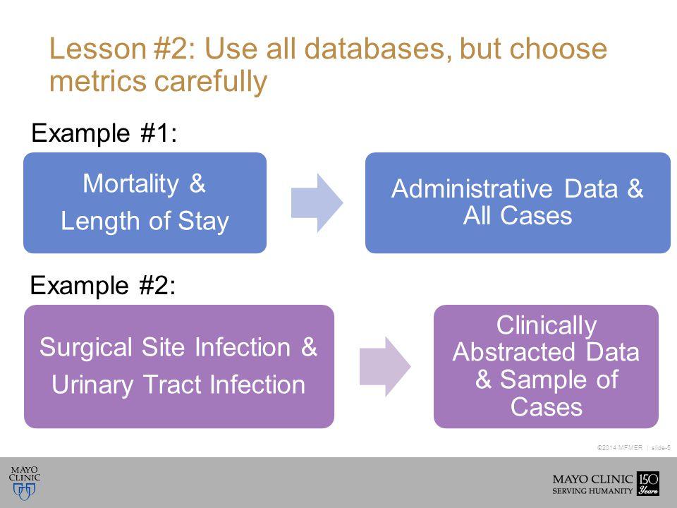 ©2014 MFMER | slide-6 Lesson #3: Data denial will happen, Be ready.