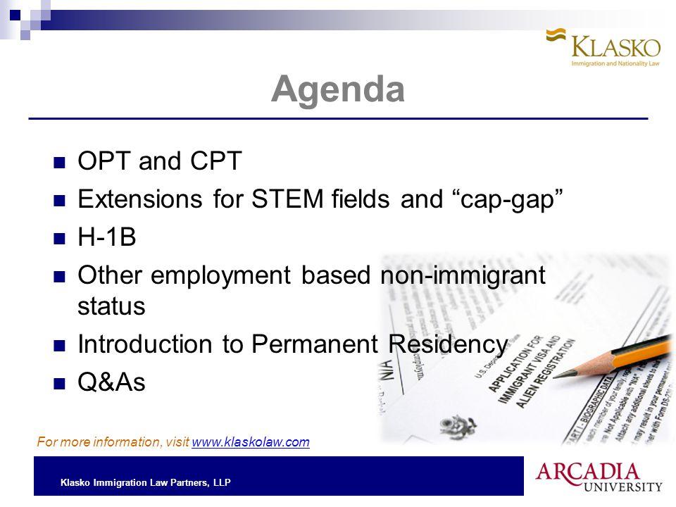 Klasko Immigration Law Partners, LLP Non-Immigrant vs.