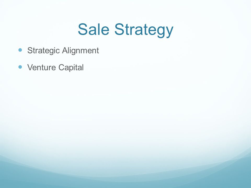 Sale Strategy Strategic Alignment Venture Capital