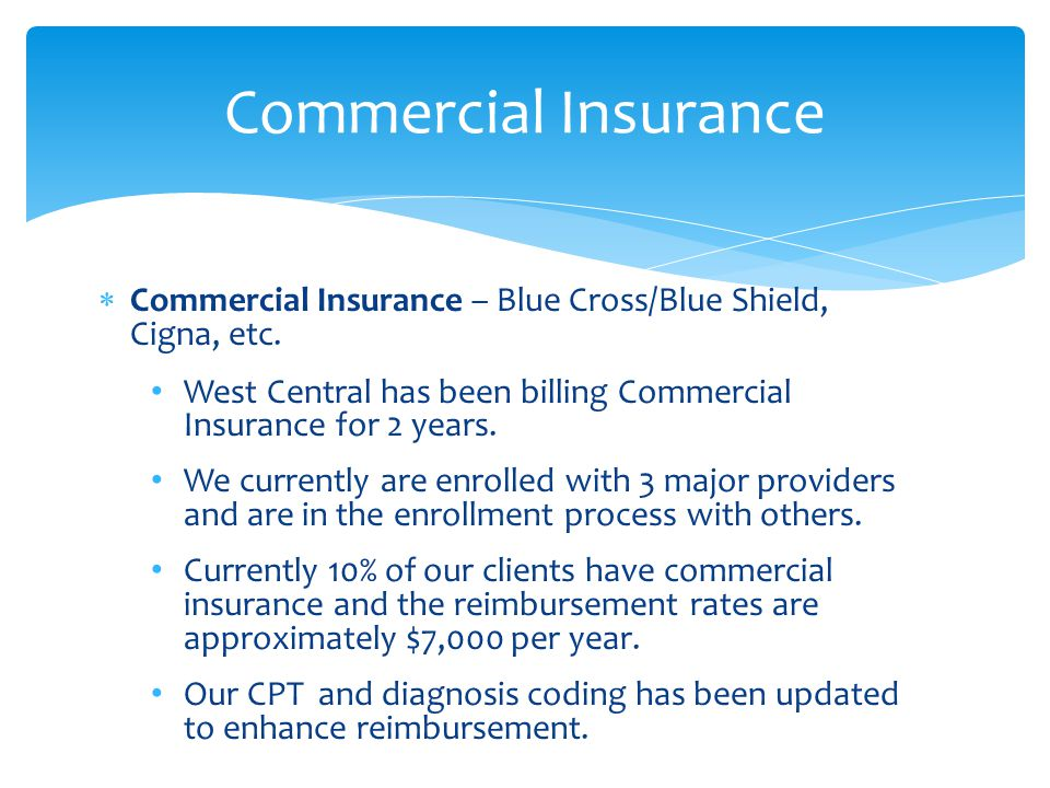  Commercial Insurance – Blue Cross/Blue Shield, Cigna, etc.