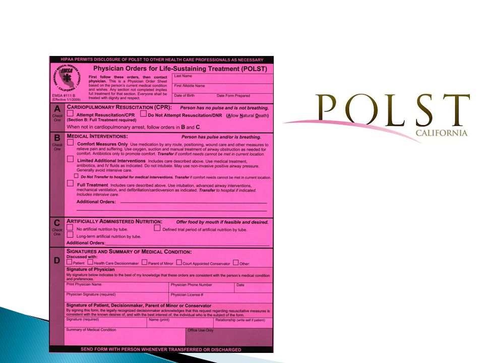 Effects of POLST