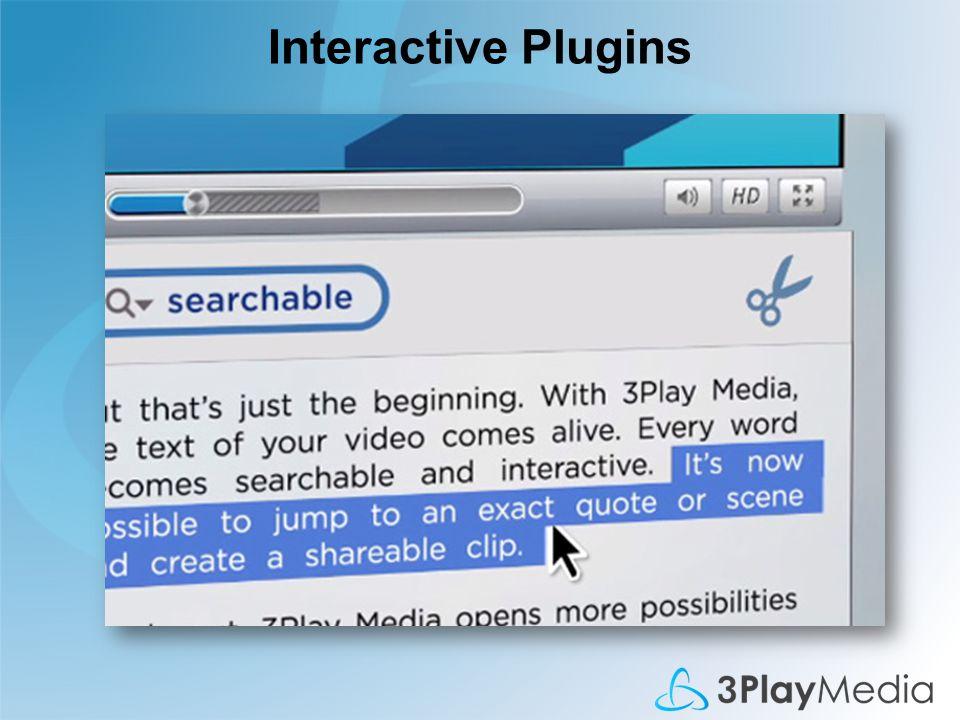 Interactive Plugins