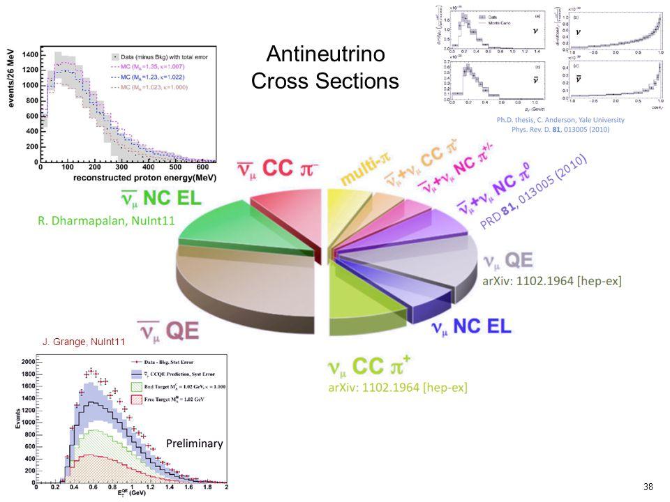 38 J. Grange, NuInt11 Antineutrino Cross Sections