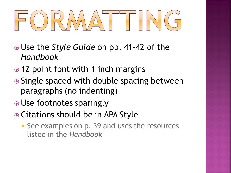  Use the Style Guide on pp.