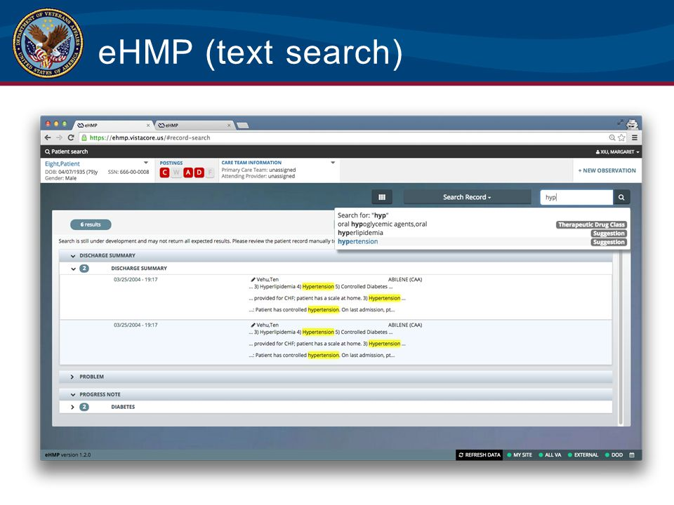 eHMP (text search)