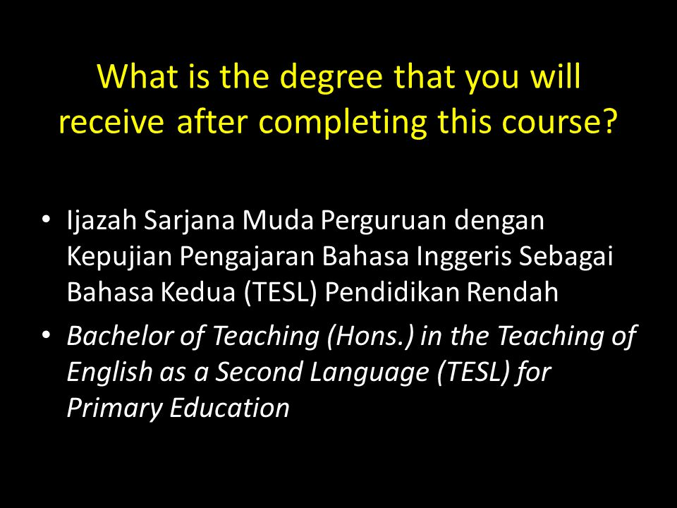 What are the objectives of this programme.