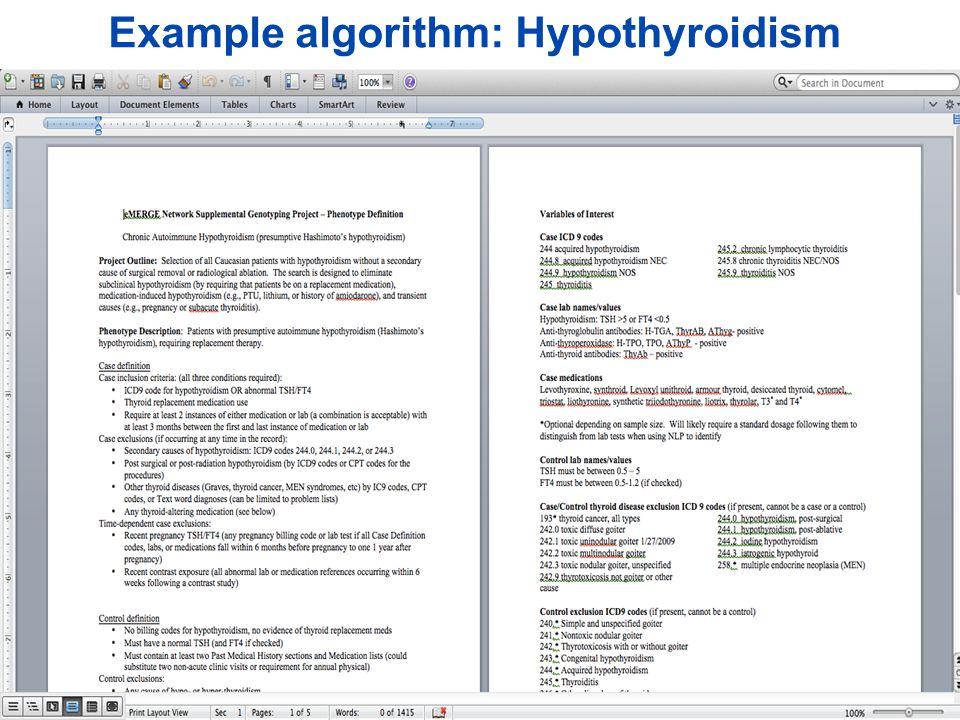 2015 AMIA Translational Summits Data Transform EHR-driven Phenotyping Algorithms Phenotype Algorithm Visualization Evaluation NLP, SQL Rules Mappings [eMERGE Network] ©2015 MFMER | slide-6