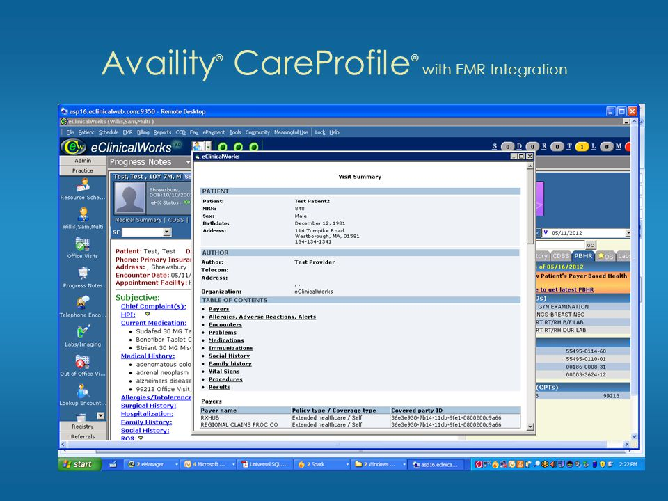 Availity ® CareProfile ® with EMR Integration