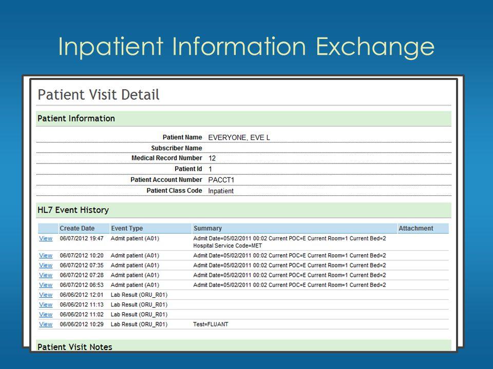 Inpatient Information Exchange