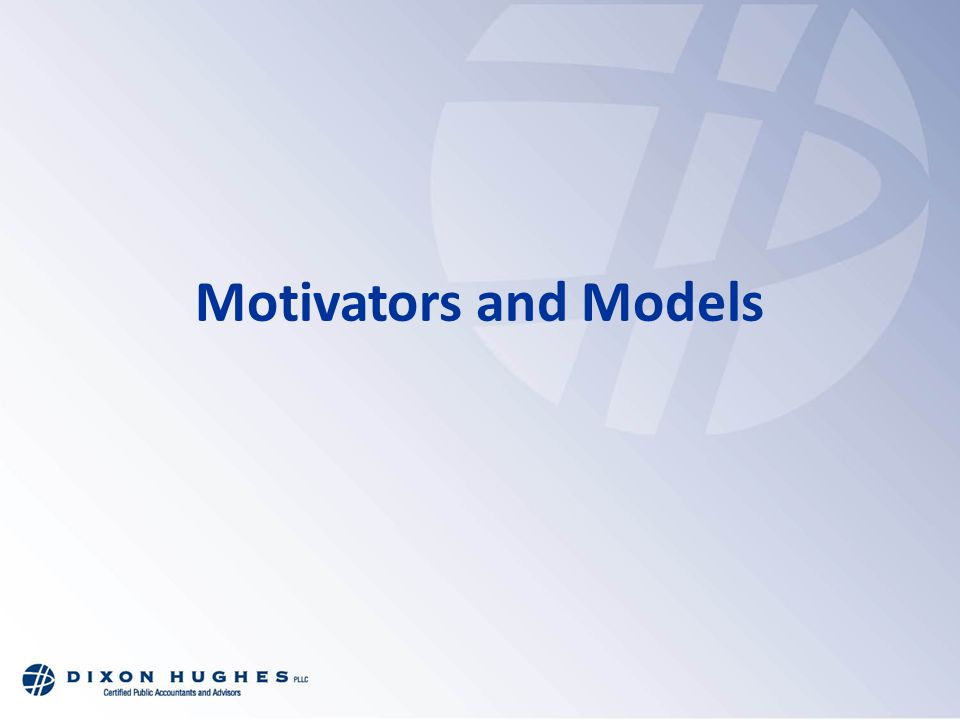 Motivators and Models