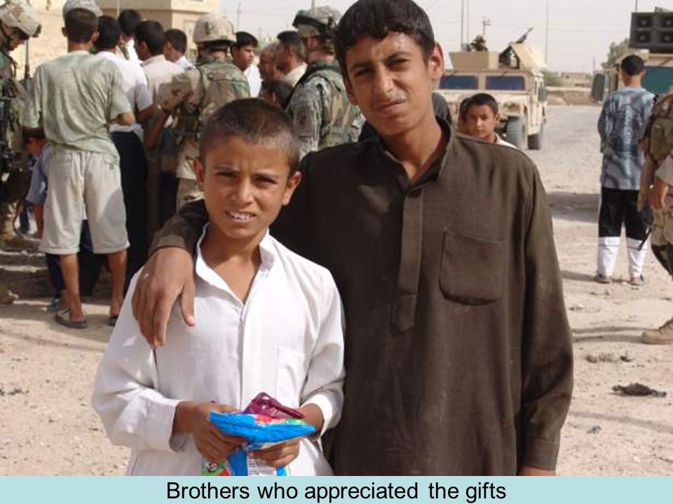 Brothers who appreciated the gifts