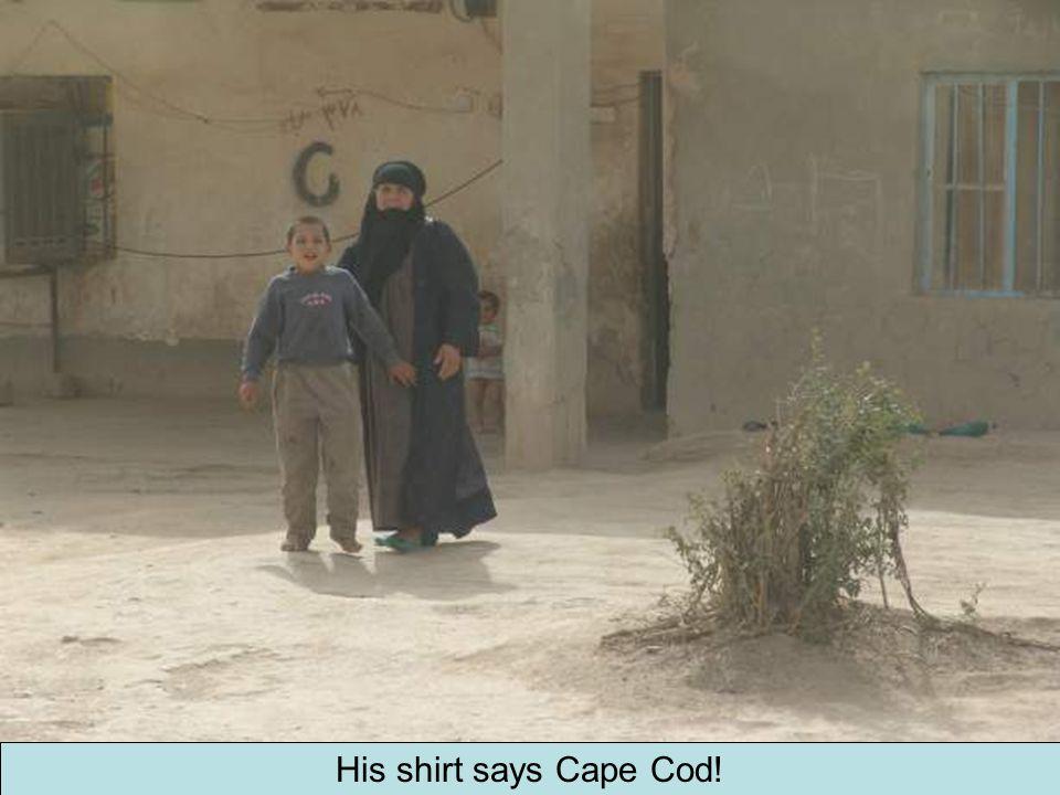 His shirt says Cape Cod!