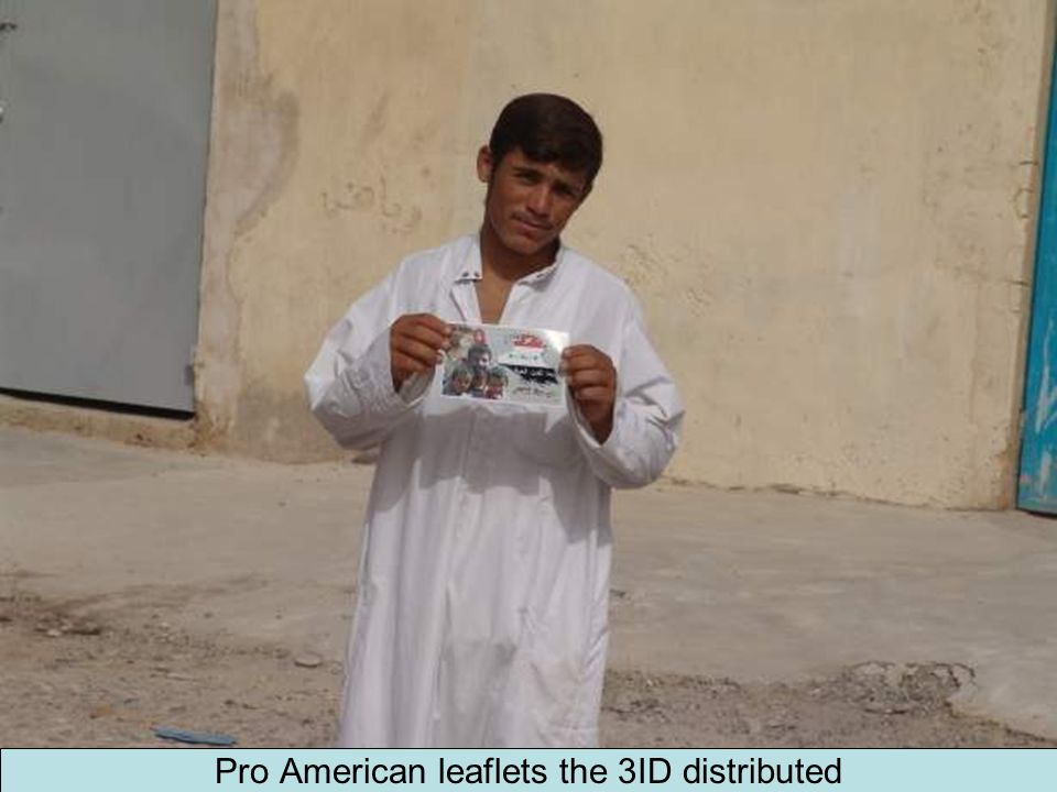 Pro American leaflets the 3ID distributed